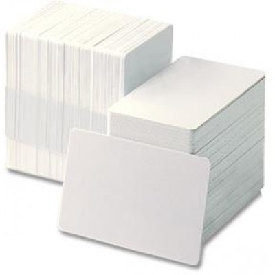 BRADY PEOPLE ID, BLANK PVC CARDS, ADHESIVE-BACKED, 10 MIL, CR80, 2.12X3.37 INCH, PACK OF 500