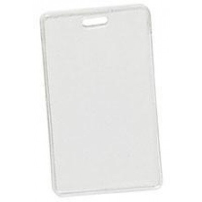"""BRADY PEOPLE ID, VERTICAL PROXIMITY CARD, CLEAR FLEXIBLE VINYL, TOP LOAD WITH SLOT, 2 1/4"""" X 3 5/8"""", BAG OF 100, PIECED AND SOLD IN FULL BAGS ONLY"""