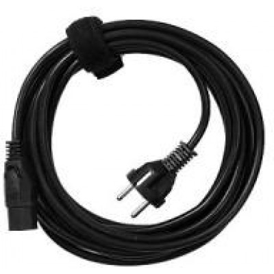 Power cord, 3 wired, connector: C13, AC, EU