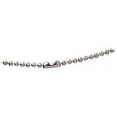 """BRADY PEOPLE ID, NICKEL-PLATED STEEL BEADED NECK CHAIN WITH CONNECTOR, LENGTH 36"""", BEAD SIZE NO. 3, BAG OF 500, PIECED AND SOLD IN FULL BAGS ONLY"""