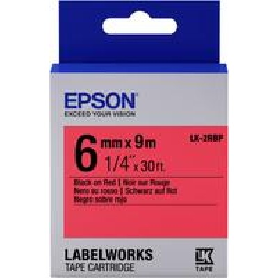 TAPE - LK2RBP PASTEL BLK/: Label Cartridge Pastel LK-2RBP Black/Red...