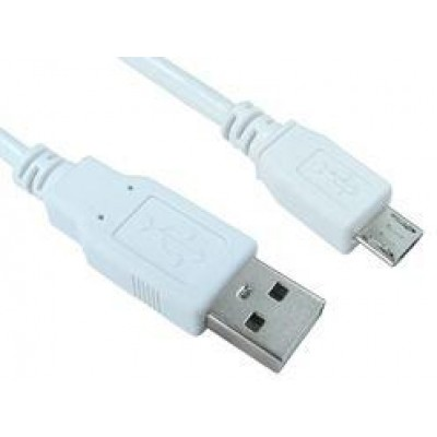 3M USB 2.0 CABLE A-M - MICRO B-M WHITE