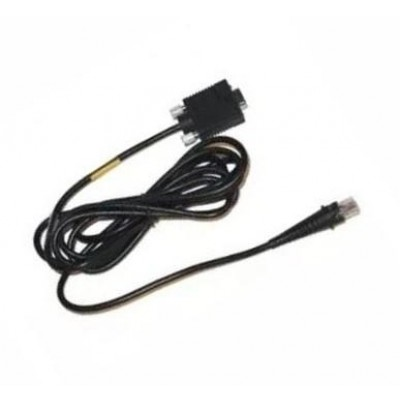 Cable: Wand Emulation, Black, 9 PIN SQZ, 3m, Coiled, 5V Power on Pin 4 on Host