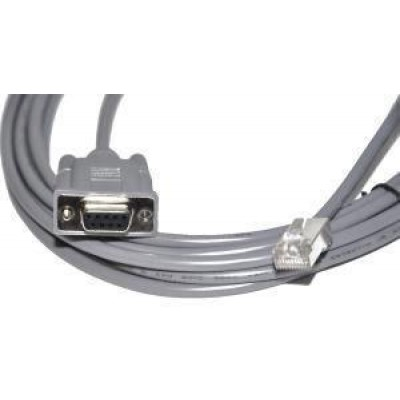 Cable, RS-232, DB9, External Power, colour: grey, 4.5m/ 15 ft