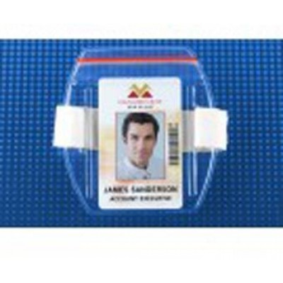 BRADY PEOPLE ID, BADGE HLDR-ARM BAND-ZIPPER CLS-WHITE, PACKED AND SOLD IN UNITS OF 25
