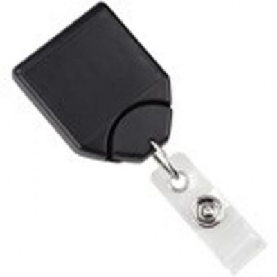 BRADY PEOPLE ID, BADGE REEL, B-REEL NO-TWIST, BLACK, NPS SWIVEL CLIP WITH TEETH, CLEAR VINYL STRAP PACKED AND SOLD IN UNITS OF 25