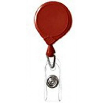 BRADY PEOPLE ID, CLASSIC MINI-BAK RETRACTOR WITH SLIDE CLIP, RED, BAG OF 25, PIECED AND SOLD IN FULL BAGS ONLY