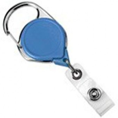 BRADY PEOPLE ID, CLASSIC MINI-BAK RETRACTOR WITH SLIDE CLIP, ROYAL BLUE, BAG OF 25, PIECED AND SOLD IN FULL BAGS ONLY
