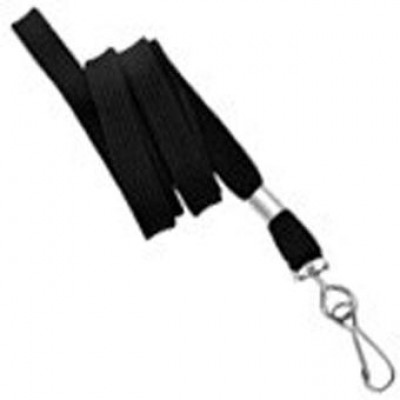 BRADY PEOPLE ID, 3/8 FLAT NON-BREAKAWAY LANYARD WITH SWIVEL HOOK, PACK OF 100, PEICED AND SOLD IN FULL BAGS ONLY