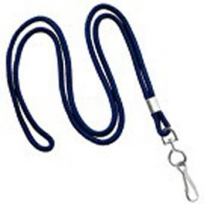 BRADY PEOPLE ID, 3/8 INCH WIDE NAVY BLUE LANYARD, BREAKAWAY, U-CLIP FITTING, PACK OF 100