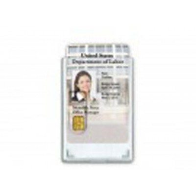 BRADY PEOPLE ID, RIGID SHIELDED  BADGE HOLDER, HOLDS 2 SMART CARDS, SHIELDS SENSITIVE ID DATA, VERTICAL SLOT, PACK OF 50