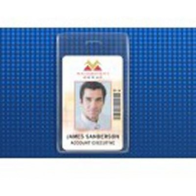 BRADY PEOPLE ID, S-SERIES PROX CARD HOLDER, VERTICAL WITH SLOT PUNCH, SIZE 2 3/8 X 3 7/8 INCH, PACK OF 100