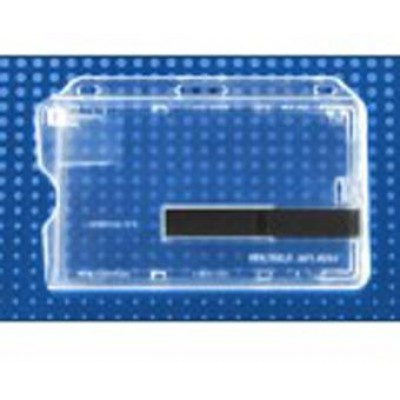 BRADY PEOPLE ID, SMART CARD BADGE HOLDER, S5 FROSTED CARD DISPENSER, SIDE LOAD, SLIDE EJECTOR FOR EASY ACCESS, HORIZONTAL LAYOUT, PACK OF 50