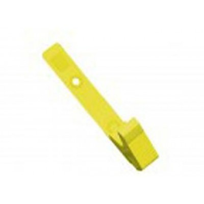 BRADY PEOPLE ID, STRAP CLIP, YELLOW, 3 1/8 (79MM), PLASTIC KNURLED THUMB-GRIP W/DELRIN STRAP, BAG OF 100 PIECED AND SOLD IN FULL BAGS ONLY