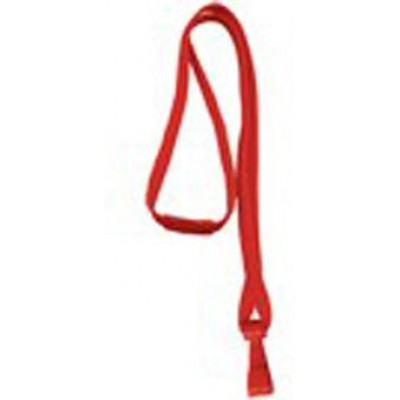 BRADY PEOPLE ID, 3/8' WIDE BREAKAWAY LANYARD WITH WIDE PLASTIC HOOK, RED, BAG OF 100, PIECED AND SOLD IN FULL BAGS ONLY