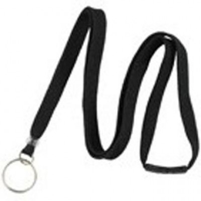"BRADY PEOPLE ID, 3/8"" WIDE BREAKAWAY LANYARD WITH SPLIT RING END FITTING, BLACK, BAG OF 100, PIECED AND SOLD IN FULL BAGS ONLY"