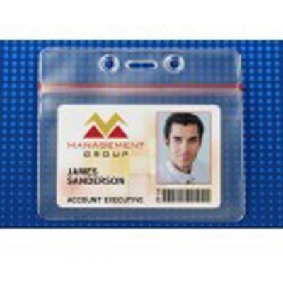 BRADY PEOPLE ID, ZIPPER CLOSURE, GOVERNMENT SIZE, HORIZONTAL, PACKED AND SOLD IN UNITS OF 100, PRICE PER 100