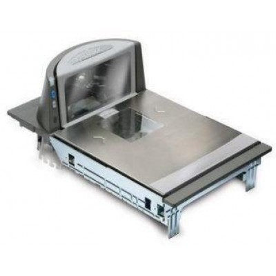 Magellan 8400, Scanner/Scale, EU/AU/NZ, Long Platter, All-Weighs w/Produce Lift Bar, Sapphire Glass, Flange Mount, AU/NZ Single Scale Display, Power Supply (AU), RS-232/RS-232 DB-9 Cables, EAS