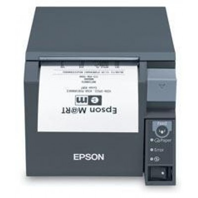 EPSON, TM-T70II, FRONT LOADING THERMAL RECEIPT PRINTER, SERIAL AND USB, EPSON BLACK, POWER SUPPLY INCLUDED, REQ CABLE