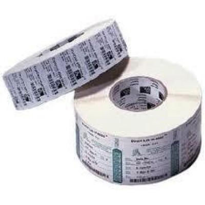 Duratran IIE Thermal Transfer Paper Labels, 76.2W x 25.4L, Permanent adhesive, 40 mm core, 110 mm OD, 1820 labels per roll, 12 rolls per carton, for desktop printers, pair with TMX2010 ribbon