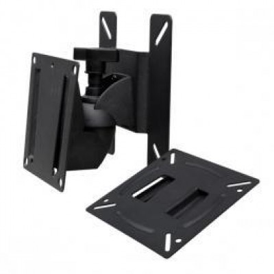 Vesa wall-mount for 75 mm and 100 mm spacing of holes, 12 mm installation depth, fixing material incl., colour: black