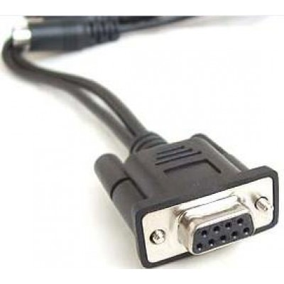 Cable: RS232, black, DB9 female, 6.1m (20.0´), coiled, 5V external power