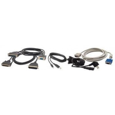 RS232 cable, DB9 female, 2.9m, coiled, host power, black