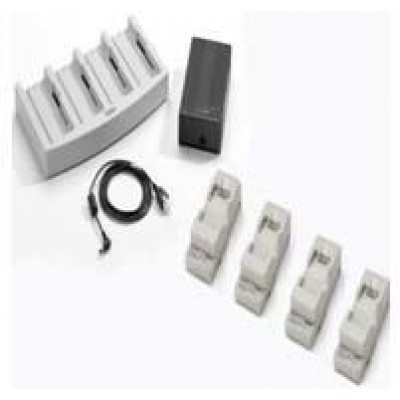 Charger kit, incl. universal battery charger, four battery adatpers, for Zebra MC3000, charges up to four MC3000 batteries.