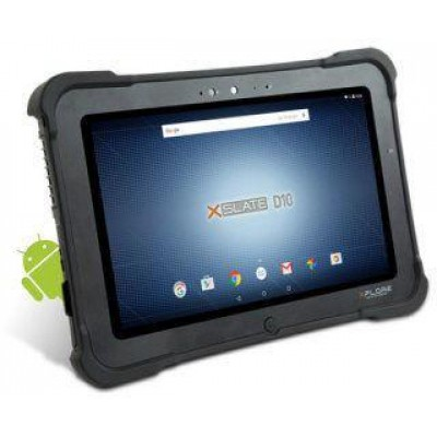 XSLATE D10 - C1Z2 and ATEX Compliant Tablet - 10.1 WXGA (1366 x 768) Rugged IPS LED backlit display - EU Power Cord - Android 6.0.1 Marshmallow - 2.0MP Front Webcam / 5.0MP Rear Camera - 4 GB RAM / 64 GB SSD - Intel® Bay Trail E3845 Quad Core 1.91GHz Proc