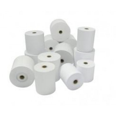 Rollo de papel para tiques, Papel normal (con duplicado), 114mm, blanco/blanco