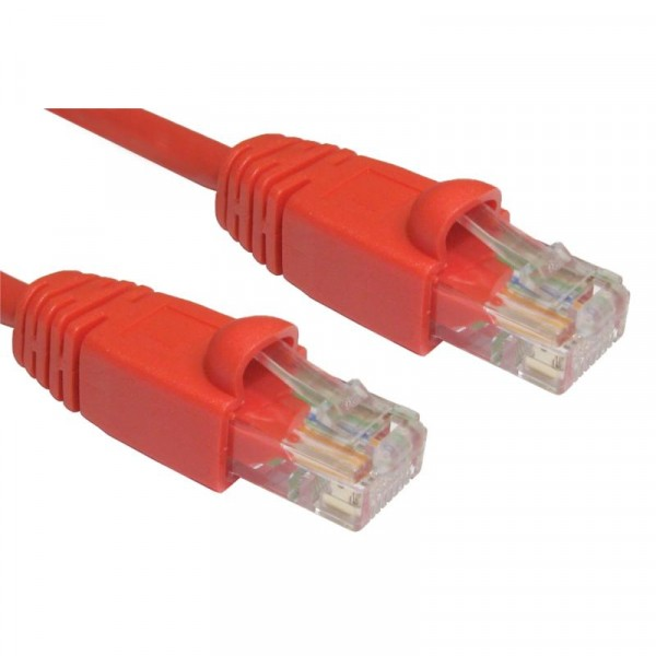 1M CAT5E UTP SNAGLESS RED PATCH CABLE