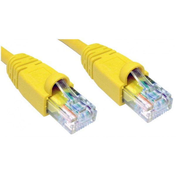 5M CAT5E UTP SNAGLESS YELLOW PATCH CABLE