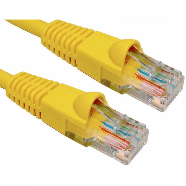 1M CAT6 UTP SNAGLESS YELLOW PATCH CABLE