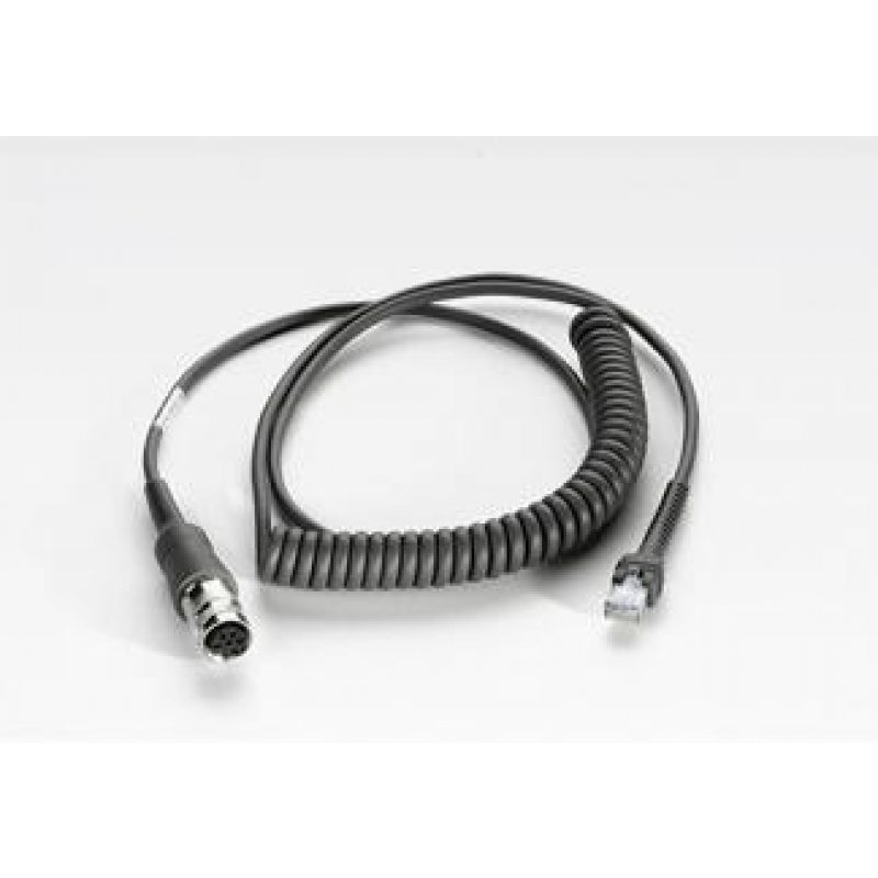 VC5090 USB Cable, LS22XX/LS34XX, coiled 9' extended, rugged amphenol conn.
