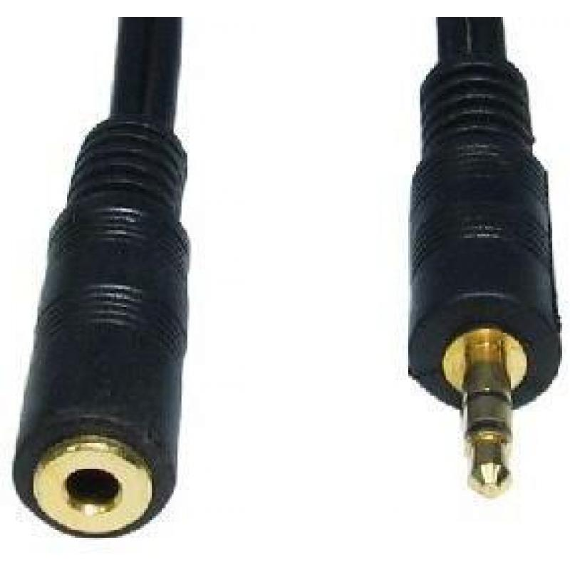 3M BLACK 3.5MM STEREO M - F CABLE GOLD