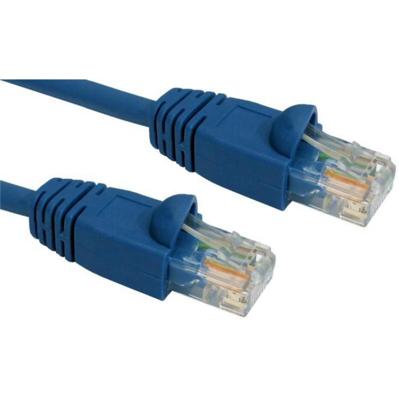 1M CAT5E UTP SNAGLESS BLUE PATCH CABLE