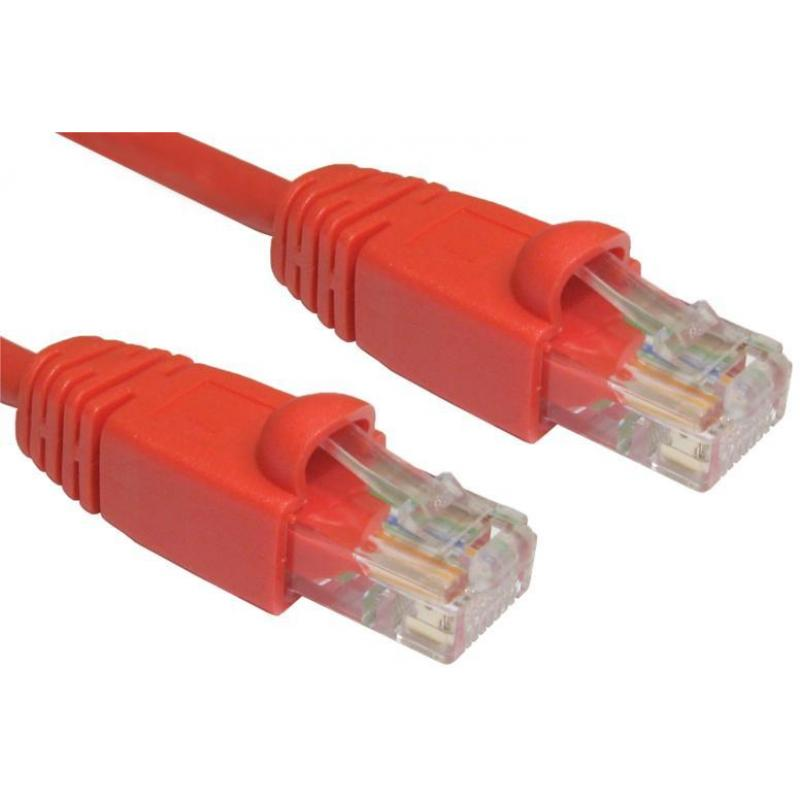 2M CAT5E UTP SNAGLESS RED PATCH CABLE