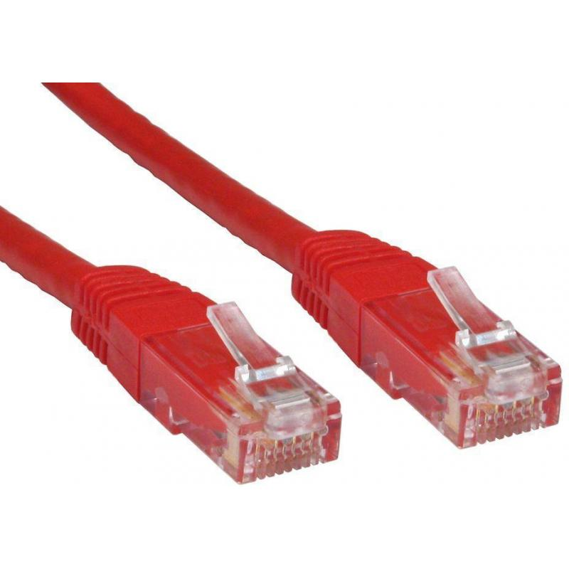 PATCH CABLE 2M CAT6 UTP RED