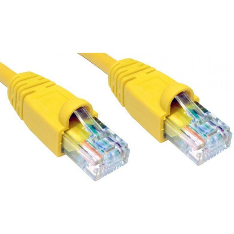 0.5M CAT5E UTP SNAGLESS YLW PATCH CABLE