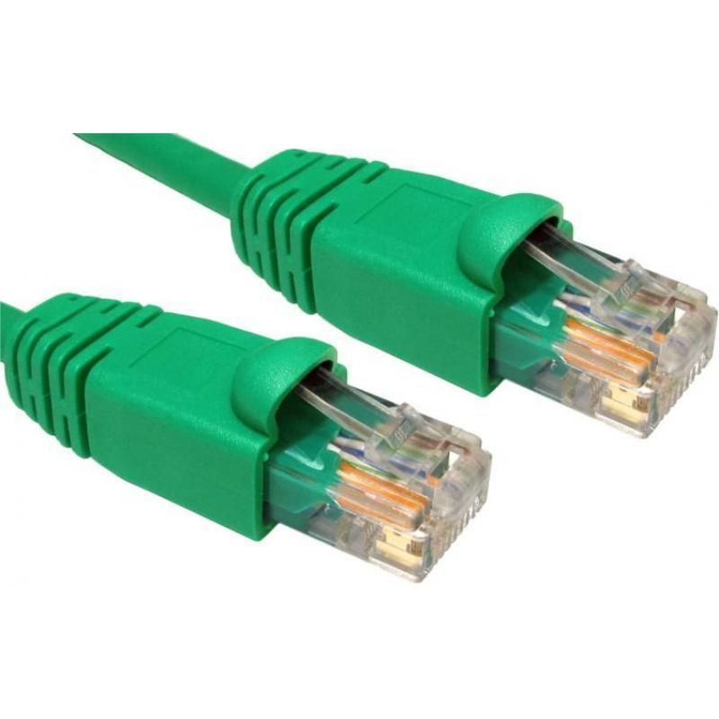 0.5M CAT5E UTP SNAGLESS GRN PATCH CABLE