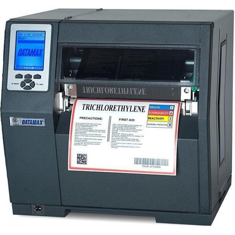 H-8308X - 8inch-300 DPI, 8 IPS, Bi-Directional TT Printer, 220v: Straight-In EU Plug, Internal Rewinder, 3.0inch Metal Media Hub