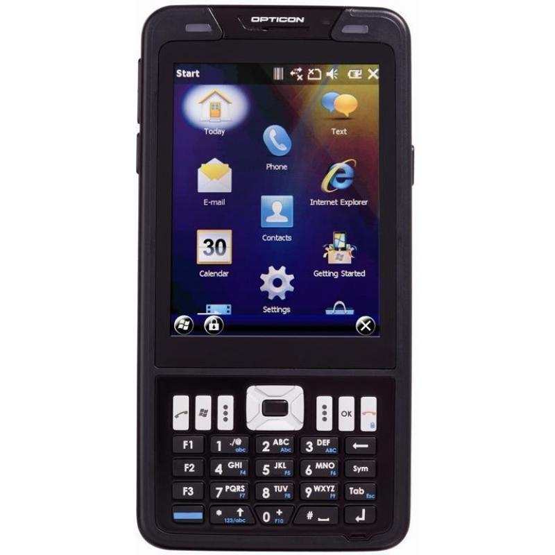 H22-1D - Barcode laser scanner, Color camera, Windows Mobile™ 6.5.3, QWERTY Keypad, IP 65, GPRS/EDGE/3G/3.5G, WLAN, (WiFi, IEEE 802.11 b/g/n), Bluetooth, AGPS, RFID