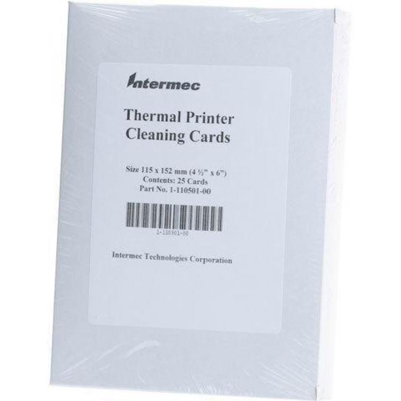 Cleaning card for 4´ wide Industrial Printers, 25 cards per carton