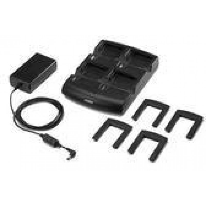 Four slot battery charger, for Zebra MC9000/MC9200, incl : power  supply(PWRS-14000-242R) and power cord(25-72614-01R)