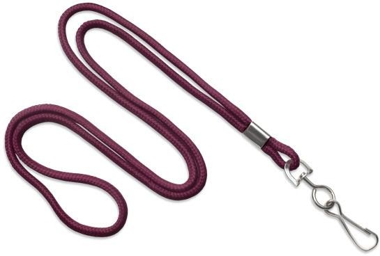 BRADY PEOPLE ID, MAROON STRAPPED LANYARDS WITH STEEL SWIVEL HOOK, PRICED BY PACK AND SOLD BY PACK OF 100