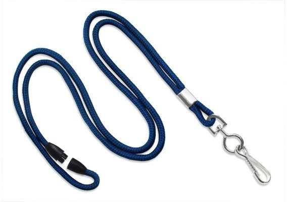 BRADY PEOPLE ID, LANYARD STANDARD, NAVY ROUND STYLE 8 BA LAN WITH NPS CRIMP WITH SWIVEL HOOK.  SOLD IN PACKS OF 100, PRICED PER PACK