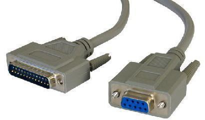 Serial Data Cable - D9F to D25M - 2 mete