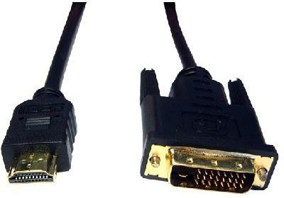 Cables Direct 5m HDMI-DVI-D 5m HDMI DVI-D Preto