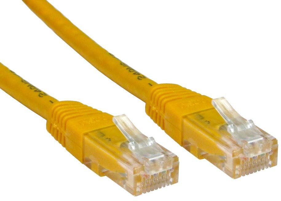 PATCH CABLE 2M CAT6 UTP YELLOW