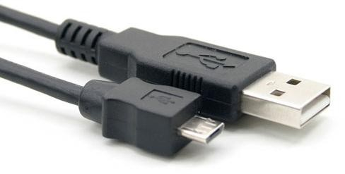 USB 2.0 A-MALE  MICRO B-MALE 1M BLACK
